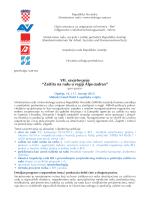 """VII. savjetovanje """"Zaštita na radu u regiji Alpe"""