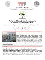 TRIBINA-Orlovac _1 - Tekstilno-tehnološki fakultet
