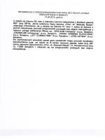 Informacija o pregovaračkom postupku za nabavku usluga