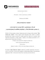 """""""Moj zavičaj kroz vrijeme"""" u četvrtak 16. travnja 2015. s početkom u"""
