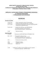 Vremenik - državno Osijek 2015. - Strojarska tehnička škola Osijek