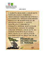 Plakat Zelena Čistka 2015.