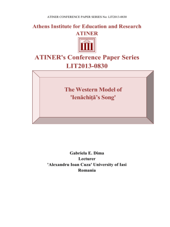 ATINER`s Conference Paper Series LIT2013-0830
