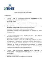 Πρόστιμα του Δ.Σ. της 16/5/2013