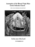November - Assumption of the Blessed Virgin Mary Greek Orthodox