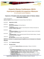 Exports Money Conference 2013 - PDF