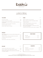 LUNCH MENU - The Margi