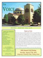 august 2013 - Saint Spyridon Hellenic Orthodox Church