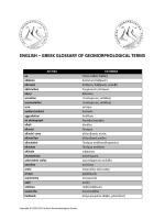 Ελληνο-Αγγλικού και Αγγλο-Ελληνικού Γλωσσαρίου