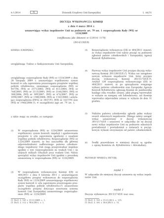 Decyzja wykonawcza Komisji z dnia 4 marca 2014 r