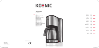 Coffee maker KCM 207 - Koenic