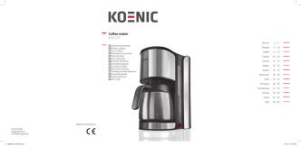 Coffee maker KCM 207 - Koenic