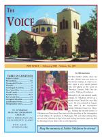 February - Saint Spyridon Hellenic Orthodox Church