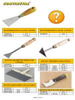 Οικοδομικά Εργαλεία - Σπάτουλες - Μυστριά - Δύχτια