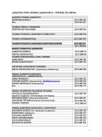 Τηλεφωνικός Κατάλογος Δήμου Θέρμης