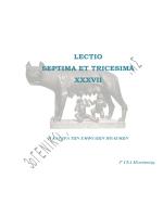 LECTIO SEPTIMA ET TRICESIMA XXXVII