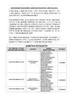Ανακοίνωση αποτελεσμάτων ΜΕΡΑ 2013 - 2014