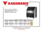 Μηχανές παγοκύβων KARAMCO Τεχνικά χαρακτηριστικά