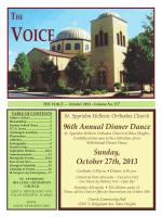 96th Annual Dinner Dance Sunday, October 27th, 2013