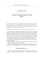 A NEWLY IDENTIFIED CRETAN GLOSS (βάριον)