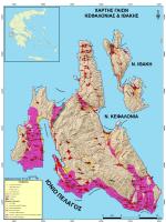3.Χάρτης γαιών Κεφαλονιάς & Ιθάκης