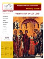 February 2013 - Annunciation Greek Orthodox Church