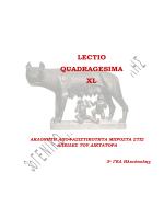 LECTIO QUADRAGESIMA XL