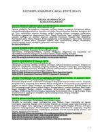Ελεύθερα Μαθήματα 2014 - 2015 (τελ. ενημέρωση: 04/12/14)