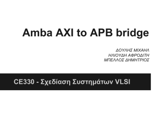 Amba AXI to APB bridge