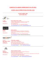 Guida alla fiere italiane Primo Semestre 2014