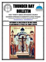 September 2014 - the Holy Trinity Greek Orthodox Community of