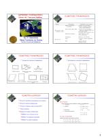 ΔΟΡΥΦΟΡΙΚΗ ΤΗΛΕΠΙΣΚΟΠΗΣΗ Ενότητα 4β: Γεωμετρική