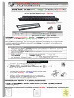 """Τεχνικό Φυλλάδιο patch panel 19"""" 24 θυρών(modular) STP"""