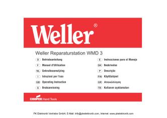 Bedienungsanleitung Weller Reparaturstation WMD 3