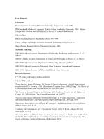 Eleni Filippaki Education: BA (Comparative Literature) Princeton