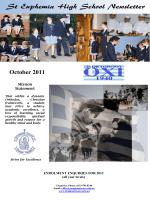 October 2011 - St Euphemia College