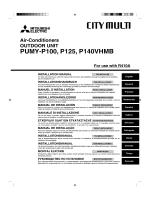 PUMY-P100, P125, P140VHMB - Mitsubishi Electric Australia