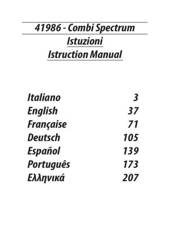 41986 - Combi Spectrum Istuzioni Istruction
