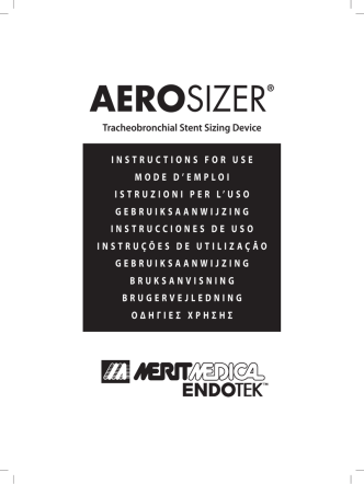 AEROSIZER® - Merit Medical Endotek