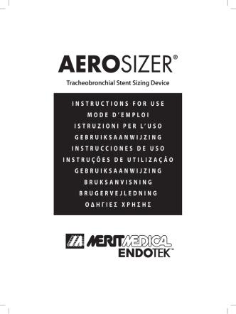 AEROSIZER® - Merit Medical Endotek