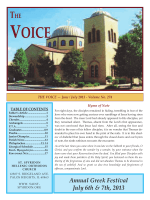 June/July - Saint Spyridon Hellenic Orthodox Church
