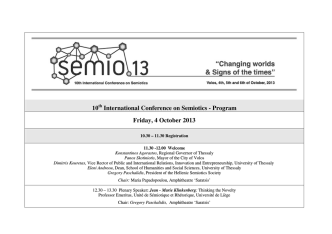 10 International Conference on Semiotics