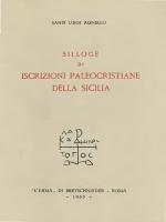 iscrizioni paleocristiane della sicilia