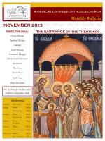 November 2013 - Annunciation Greek Orthodox Church