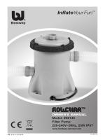58145 Filter Pump 220-240V~50Hz, 25W IPX7 OWNER`S