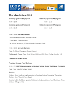 scientific program - European Society of Oncology Pharmacy