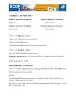 scientific program - European Society of Oncology Pharmacy