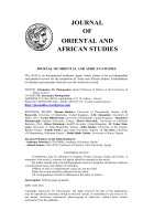 Contents - Journal of Oriental and African Studies