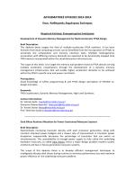 Διπλωματικές εργασίες 2013-2014 (Καθ. Δημήτριος Σούντρης)