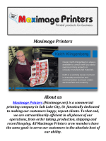 Maximage Printers: Digital Printing Company Salt Lake City